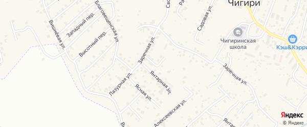 Уютный переулок на карте села Чигири с номерами домов