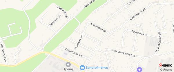 Молодежная улица на карте села Чигири с номерами домов