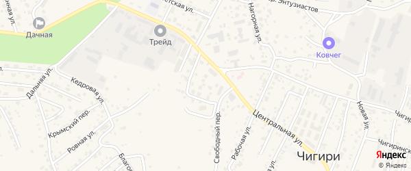 Амурский переулок на карте села Чигири с номерами домов