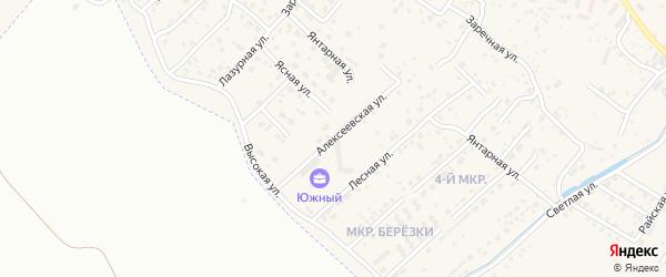 Алексеевская улица на карте села Чигири с номерами домов