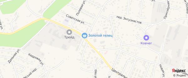 Западный переулок на карте села Чигири с номерами домов