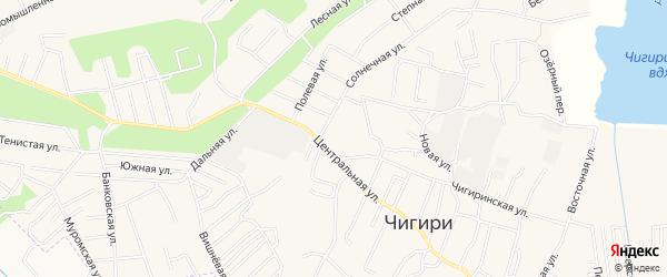 Карта села Чигири в Амурской области с улицами и номерами домов