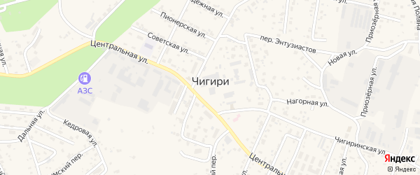 Новотроицкого шоссе 4-й километр на карте села Чигири с номерами домов