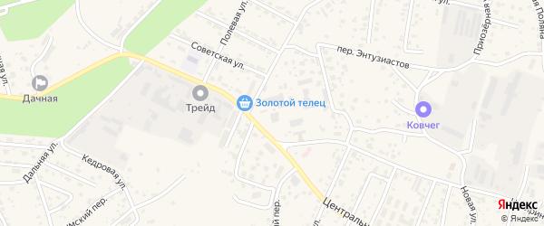Светлый переулок на карте села Чигири с номерами домов