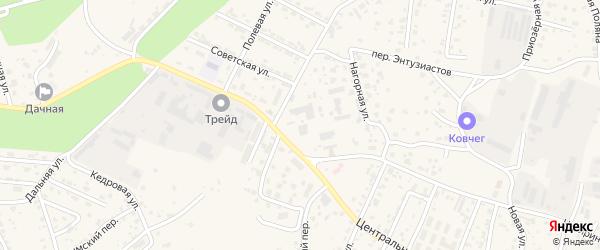 Улица Новоселов на карте села Чигири с номерами домов