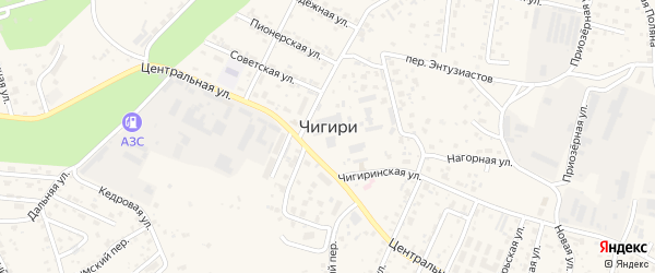 Микрорайон 4 Сосновая улица на карте села Чигири с номерами домов