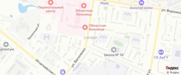 3-й микрорайон на карте села Чигири с номерами домов