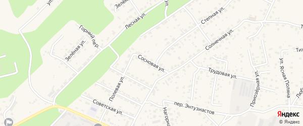 Сосновая улица на карте Благовещенска с номерами домов