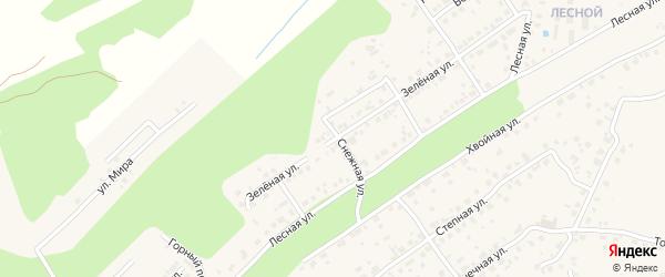 Зеленая улица на карте села Чигири с номерами домов