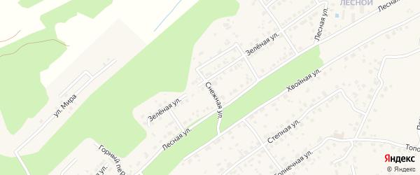 Снежная улица на карте села Чигири с номерами домов