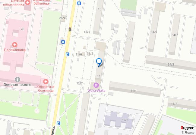 улица Василенко, 11 на карте Благовещенска, организации, фото подробно 2579d5d68b8