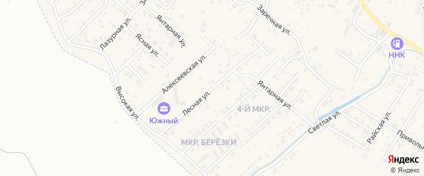 Ягодный переулок на карте села Чигири с номерами домов