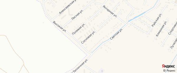 Сосновая улица на карте села Чигири с номерами домов