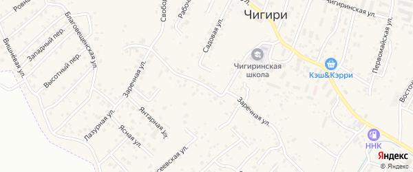 Заречная улица на карте села Чигири с номерами домов
