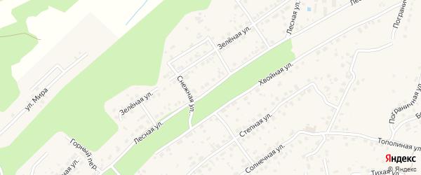 Лесная улица на карте села Чигири с номерами домов