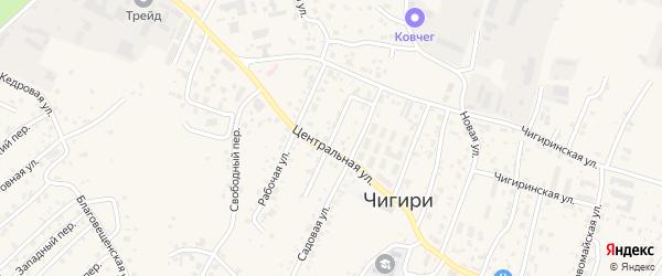 Амурская улица на карте села Чигири с номерами домов