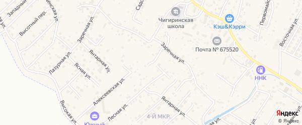 Переулок Дружбы на карте села Чигири с номерами домов