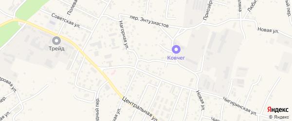Нагорная улица на карте села Чигири с номерами домов