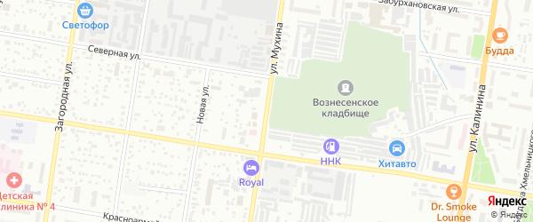 Улица Мухина на карте Благовещенска с номерами домов