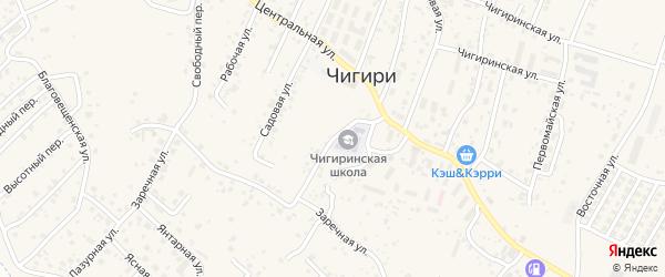 Школьный переулок на карте села Чигири с номерами домов