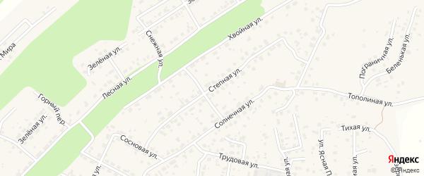 Степная улица на карте села Чигири с номерами домов