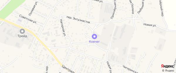 Луговой переулок на карте села Чигири с номерами домов
