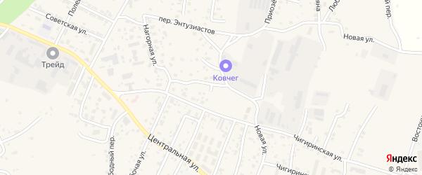 Крымский переулок на карте села Чигири с номерами домов