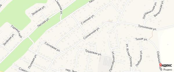 Солнечная улица на карте села Чигири с номерами домов