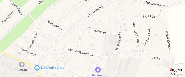 Цветочная улица на карте села Чигири с номерами домов