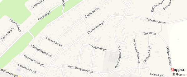 Рассветный переулок на карте села Чигири с номерами домов