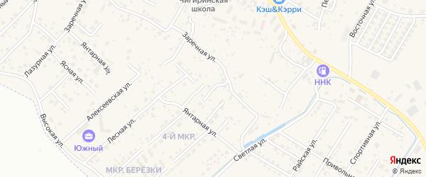 Переулок Надежды на карте села Чигири с номерами домов