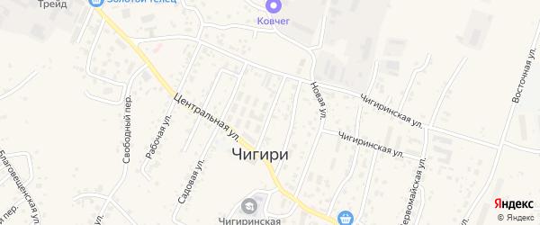 Октябрьская улица на карте села Чигири с номерами домов