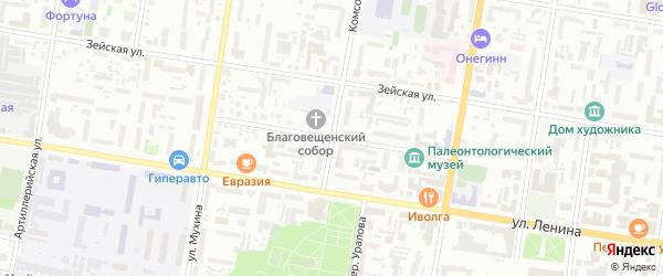 Релочный переулок на карте Благовещенска с номерами домов