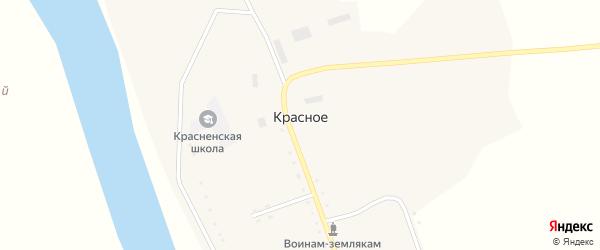 Школьный переулок на карте Красного села с номерами домов