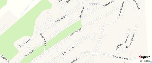 Хвойная улица на карте села Чигири с номерами домов