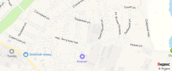 Тепличная улица на карте села Чигири с номерами домов