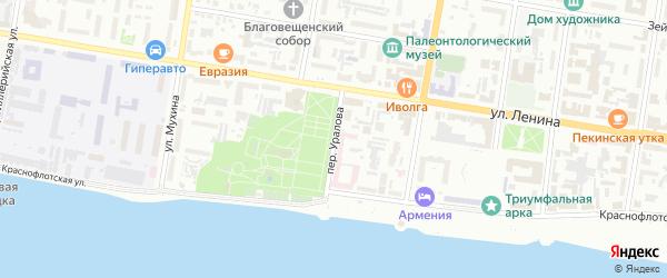 Переулок Уралова на карте Благовещенска с номерами домов