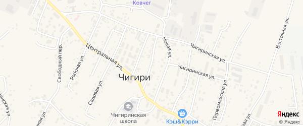 Юбилейная улица на карте села Чигири с номерами домов