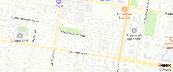 Крестьянский переулок на карте Благовещенска с номерами домов