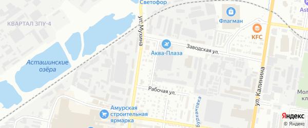 Ромненский переулок на карте Благовещенска с номерами домов