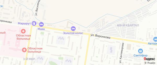 Улица Воронкова на карте Благовещенска с номерами домов