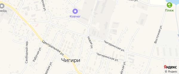 Чигиринская улица на карте села Чигири с номерами домов