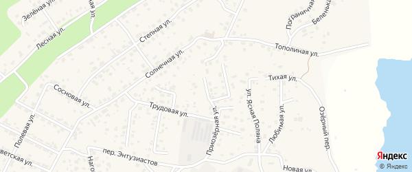 Ивановский переулок на карте села Чигири с номерами домов