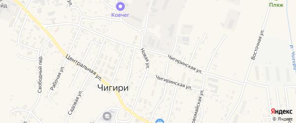 Новая улица на карте села Чигири с номерами домов