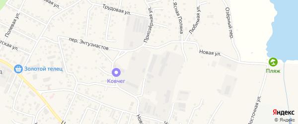 Широкий переулок на карте села Чигири с номерами домов