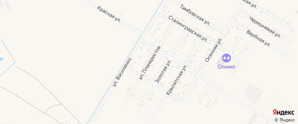 Улица Планеристов на карте села Чигири с номерами домов