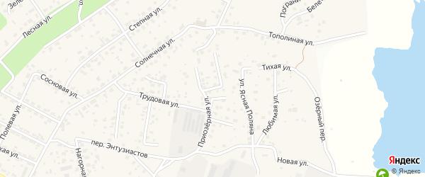 Добрый переулок на карте села Чигири с номерами домов