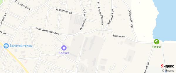 Приозерная улица на карте села Чигири с номерами домов