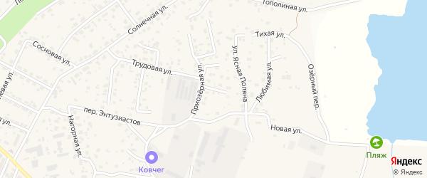 Рубиновый переулок на карте села Чигири с номерами домов