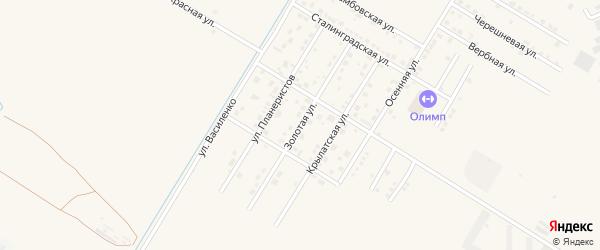 Золотая улица на карте села Чигири с номерами домов